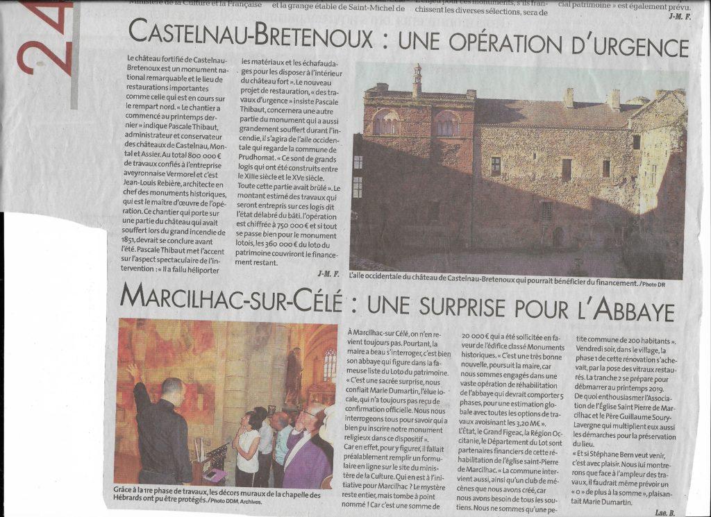 Stéphane Bern Abbaye Marcilhac sur Célé
