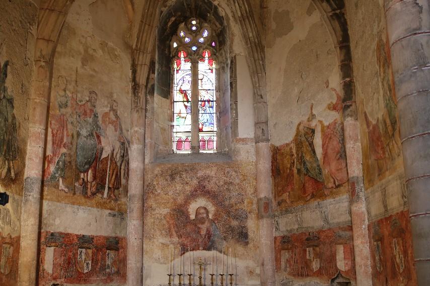 Peintures de l'abbaye de Marcilhac/Célé