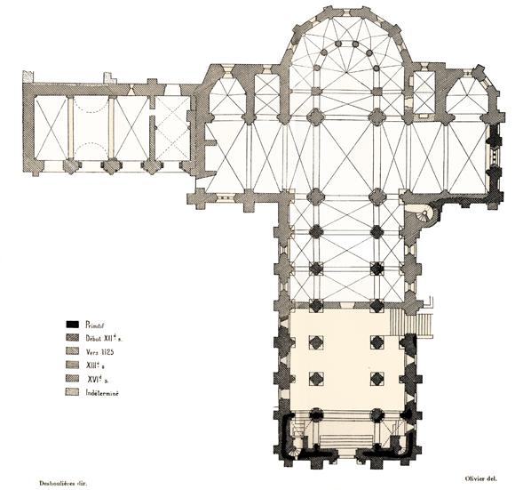 Plan de l'abbatiale de Marcilhac sur Célé